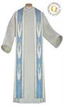 Marienstola, weiß/ blau, Wolltrevira