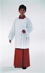 Ministrantenrock, rot, Kunstfaser (Polyester) in Gabardine-Webung