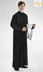Ministrantentalar mit Arm, schwarz, Polyester 125 cm