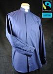 Collarhemd, dunkelblau, Fairtrad Baumwolle Größe 42