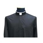 """Collarhemd """"Römischer Kragen"""", Popeline,100 % Baumwolle,  Langarm Größe 43"""