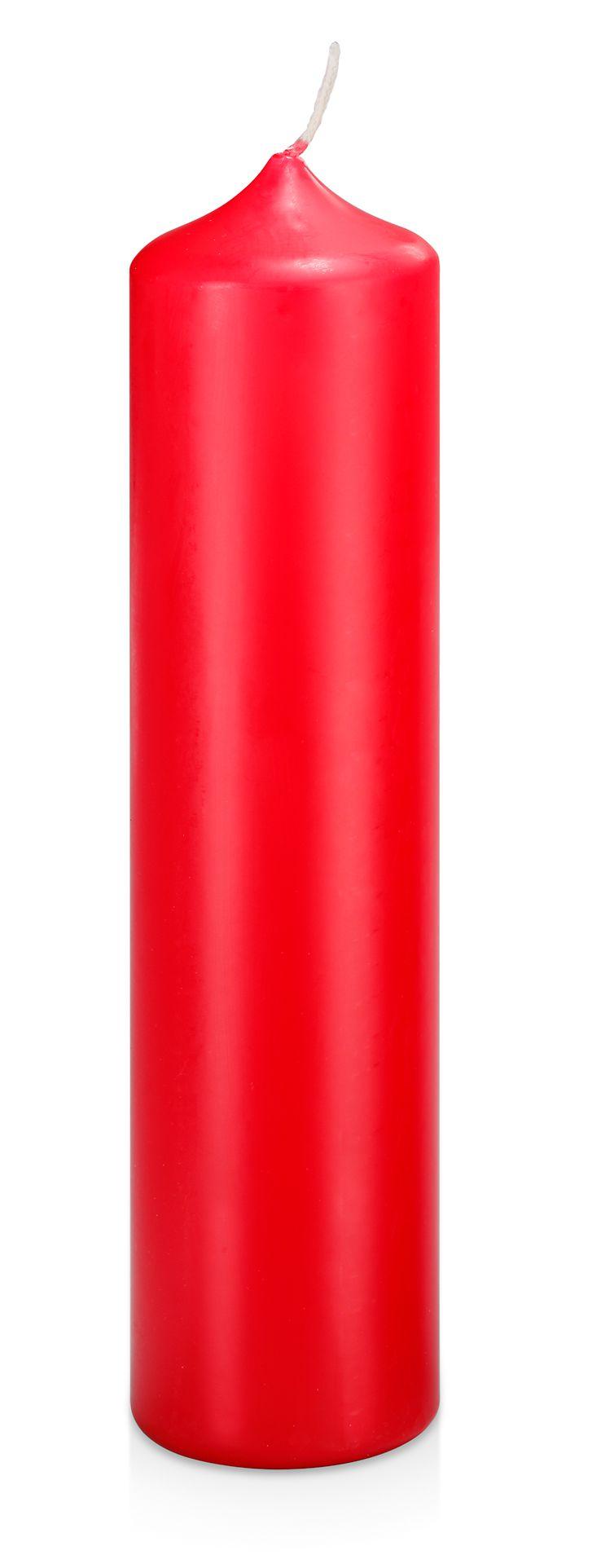 Kirchenadventkerze, rot, 250/60 mm