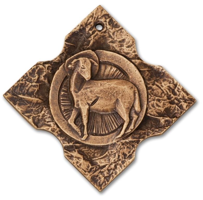 Bronzekreuz Osterlamm