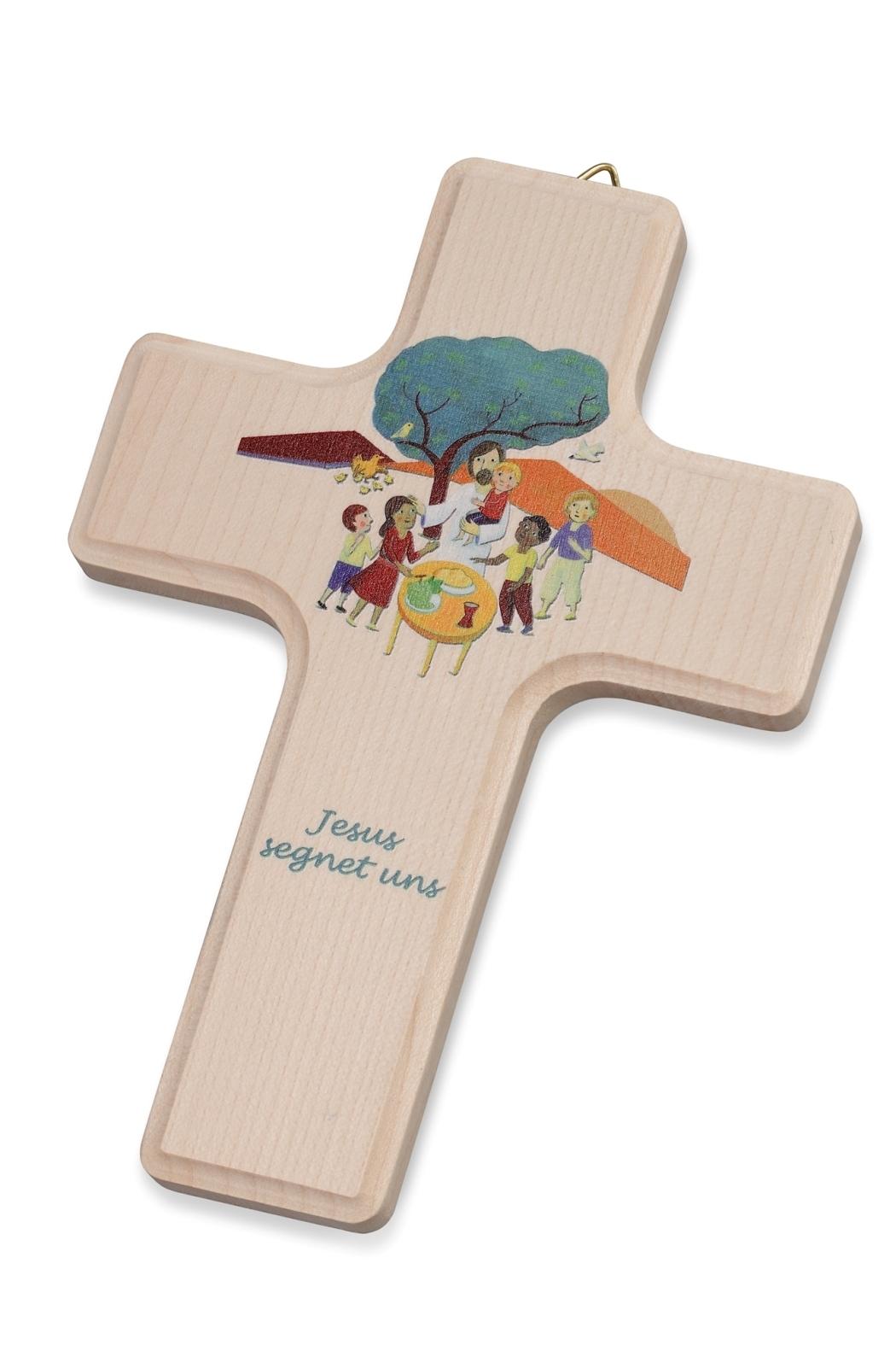 Holzkreuz, bedruckt