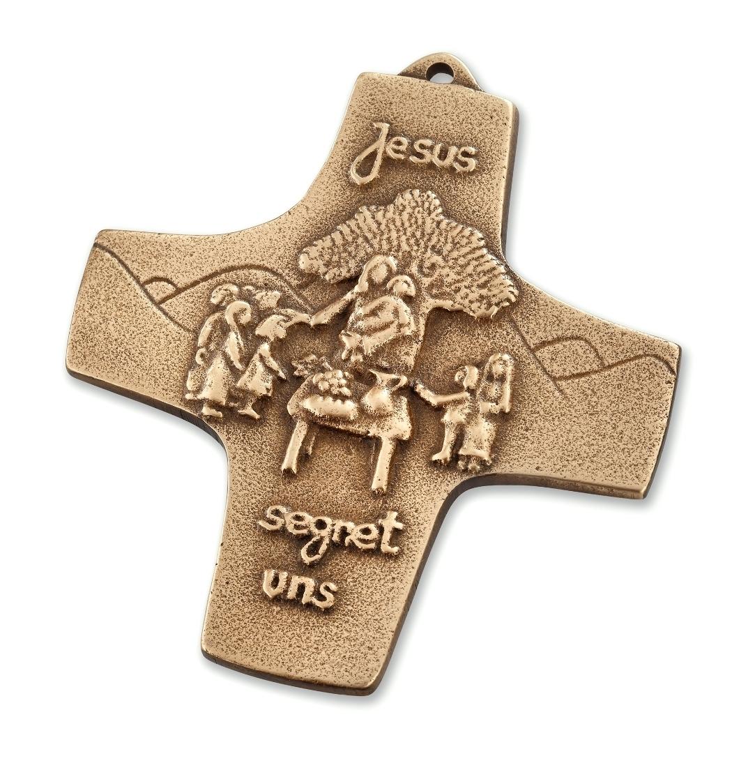 "Bronzekreuz ""Jesus segnet uns"""