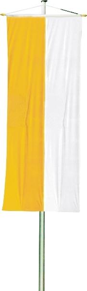 gelb-weiße Kirchenfahne, 200x80 cm