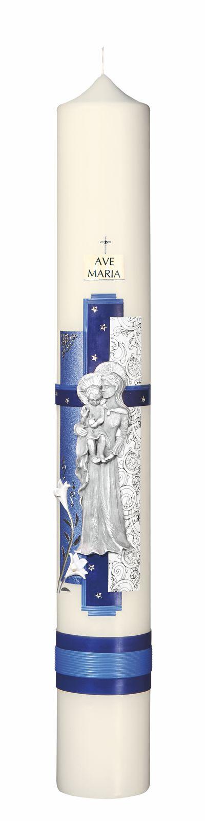 Marienkerze, Format 60/ 8 cm