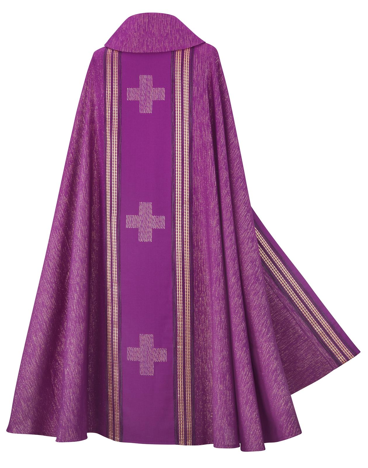 Rauchmantel, Wollmischgewebe, violett