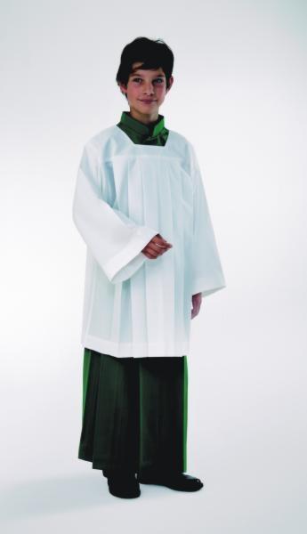 Ministrantenrock, grün, Wolltrevira