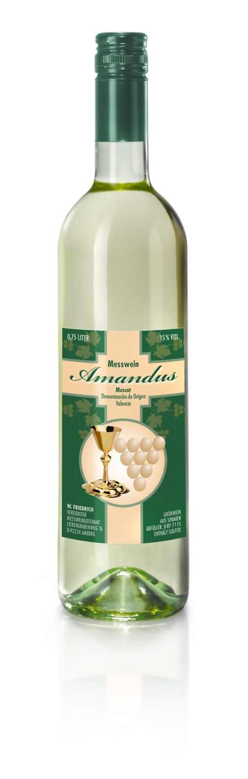 Messwein - Amandus -  Valencia Muskat, 0,75 Liter