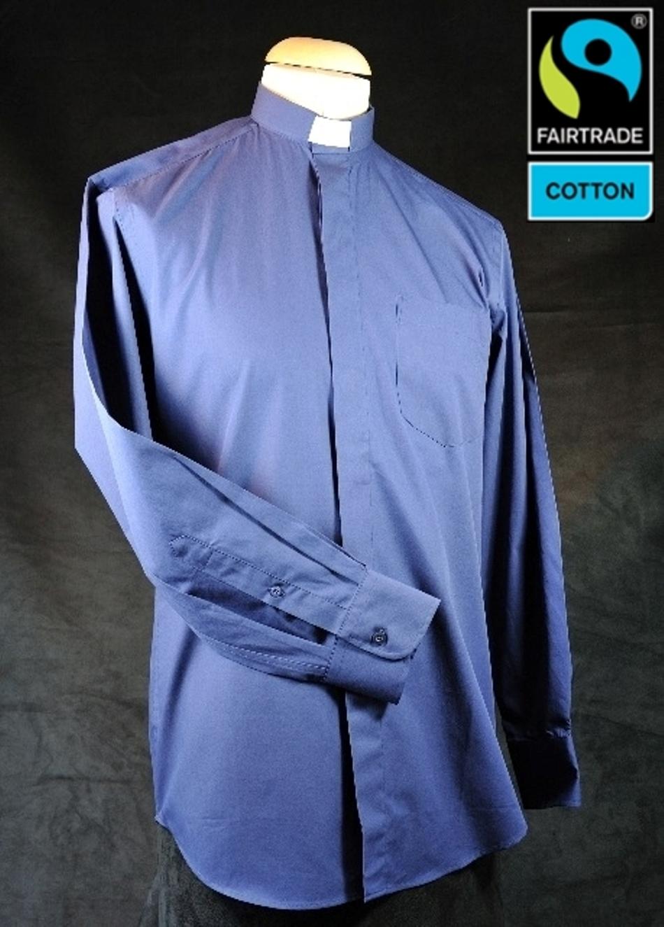 Collarhemd, dunkelblau, Fairtrad Baumwolle