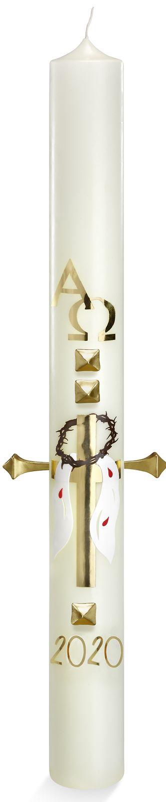 Kirchenbedarf friedrich neu osterkerze mit 10 for Osterkerzen modern